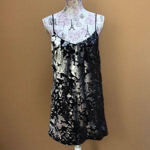 Forever 21 After Dark Sequin and Velvet Dress NEW